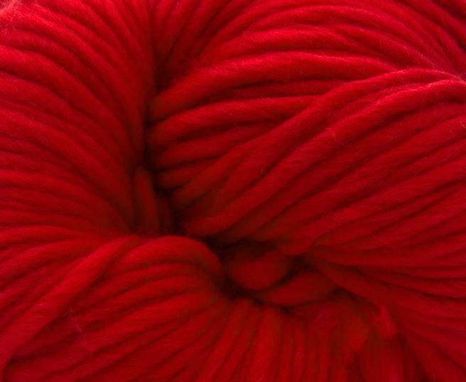 Fire super chunky lana Merino Scarlet 1