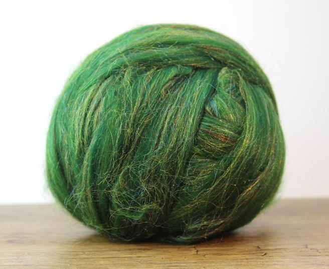 Fire Gigant lana Merino Christmas Blend Green