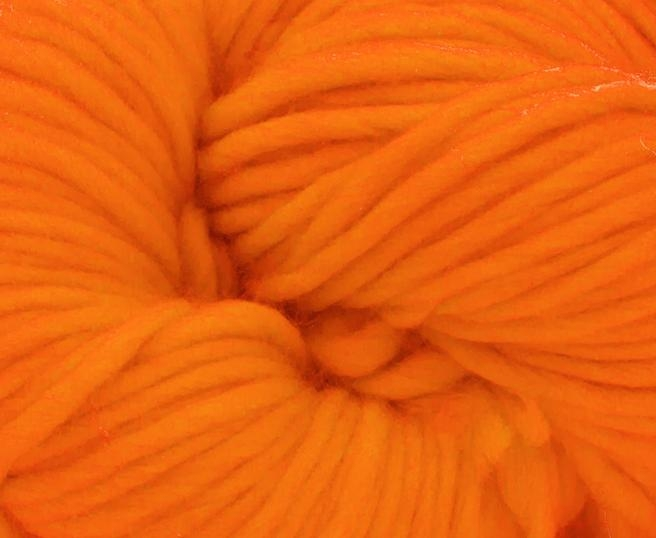 Fire super chunky lana Merino Clementine 1