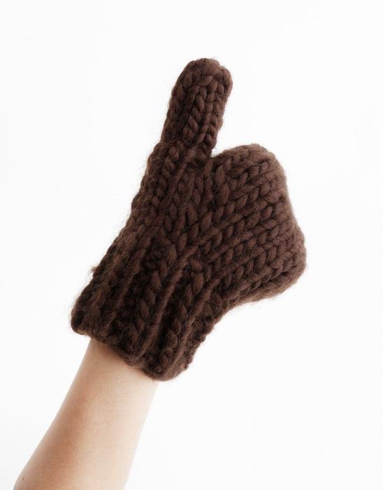 Kit tricotat manusi Fight the power 3