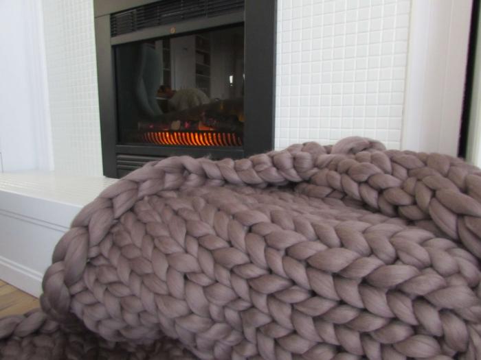 Patura fire gigant lana Merino 200x200 cm