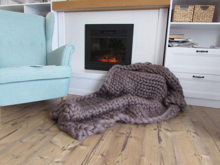 Patura fire gigant lana Merino 130x155 cm